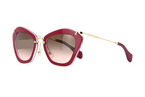 Miu Miu Designer Womens Sunglasses - MU10NS 1AB1A1 - Black Rectangle Frame with Black Lens