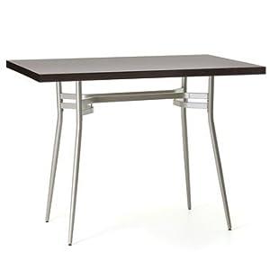 ... - Amisco Anais Rectangular Wood Top Bar Height Table - Dining Tables