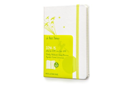 Moleskine 2014-2015 Le Petit Prince Limited Edition Weekly Notebook, 18M, Pocket, White, Hard Cover (3.5 x 5.5) (Moleskine Petit Prince)