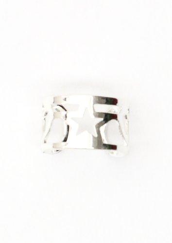 Star Ear Cuff Wrap Silver Tone Earring Fashion Jewelry