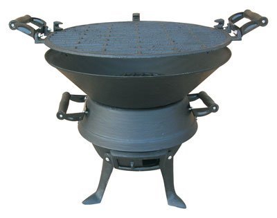 Bbq Metal With Cast Iron Cooking Surface by BBQ Metal with Cast Iron Cooking Surface