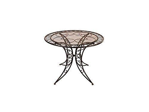 Gartenmöbel Garten Tisch Schmiedeisen Gartentisch Bistrotisch Antik DM 1 Meter günstig