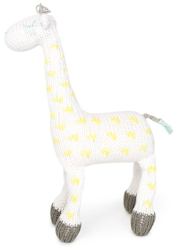 Finn + Emma Organic Cotton Baby Neutral Rattle Buddy - Giraffe