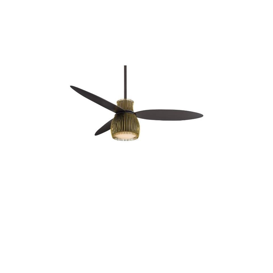 Minka Aire Ceiling Fans F824 BK CH 52In Uchiwa Fan Bk Ch 190W Limiter N A