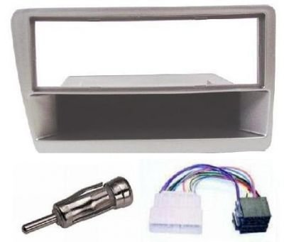 SILVER HONDA CIVIC/TYPE R CAR STEREO/RADIO FITTING KIT FASCIA/FACIA PLATE AERIAL ADAPTOR & ISO LEAD