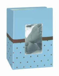 Pioneer Photo Albums Embroidered 100 Pocket Frame Fabric Cover Photo Album, Baby Blue