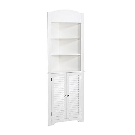 RiverRidge Home Ellsworth Collection Tall Corner Cabinet, White