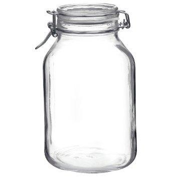 Bormioli Rocco Fido Round Clear Jar, 101.50-Ounce