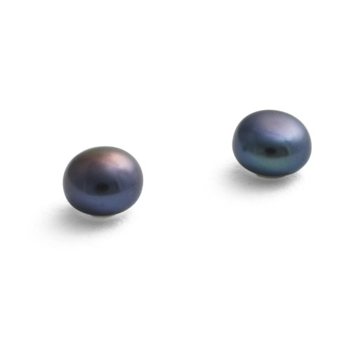 Jersey Pearl Sterling Silver Cultured Freshwater Medium Pearl Earrings