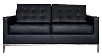 RetroMod Florencia Loveseat - Black