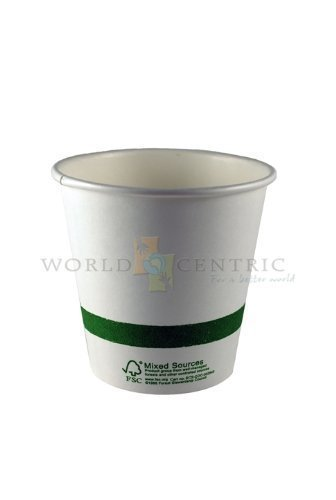 World-Centrics-100-Biodegradable-100-Compostable-Paper-PLA-Lined-4-Ounce-Espresso-Cup-Package-of-200