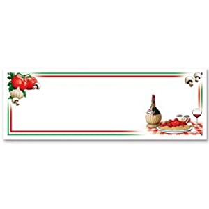 Beistle 57819 Italian Night Sign Banner, 5-Feet by 21-Inch from The Beistle Company