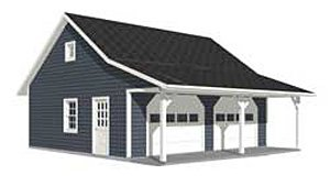 Garage Plans Roomy 2 Car Garage Plan With 6 Ft Front
