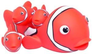 Clown Fish Family 4 piece Bath Tub Toy