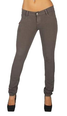 U-Turn Style 1118 - Basic Skinny Leg Premium French Terry Moleton in Asphalt Size XS