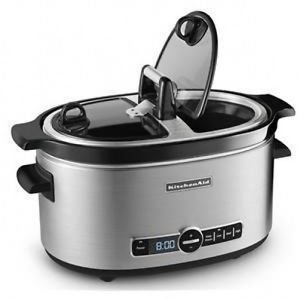 Kitchenaid Ksc6222ss Stainless Steel 6 Qt. Slow Cooker with Flip Lid New One Day Shipping Good Gift Fast Shipping