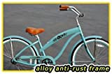 "Anti-Rust Aluminum Frame, Fito Modena Alloy 1-speed Women's 26"" wheel Sky Blue Beach Cruiser Bike Bicycle"