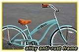"Anti-Rust Aluminum Frame, Fito Modena Alloy 1-speed Women's 26"" wheel Sky Blue Beach Cruiser Bike Bicycle"
