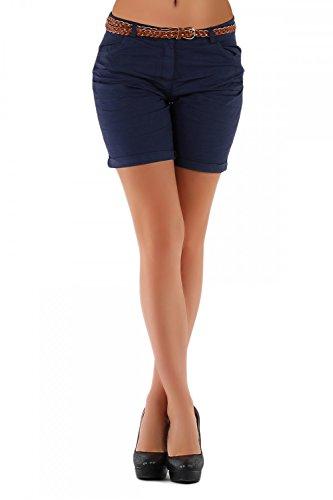Danaest -  Pantaloncini  - Chino - Donna blu scuro 42