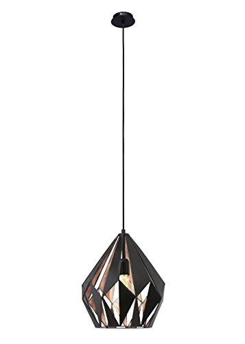 Pendelleuchte 1-flammig Bea Farbe: Schwarz / Kupfer
