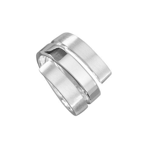 VINANI Damen Ring Tristar Silber 925 RTR Gr: 52/16