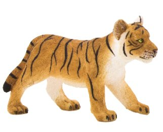Mojo Fun 387008 Tiger Cub Standing - Realistic International Wildlife Toy Replica