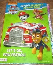 "Paw Patrol Jumbo Coloring & Activity Book ~ ""Let's Go, Paw Patrol!"" - 1"