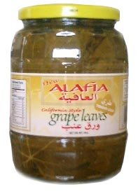 California Style Grape Leaves (alafia) 2lb jar, DR.WT. 16oz by Alafia