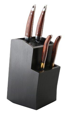 Gestufter Universaler Messerblock   Aufbewahrung Und Ordnung Für Ihre  Messer   Toll Für Keramik Und Edelstahl Utensilien (Schwarz) U2022  Küchenausstattung ...