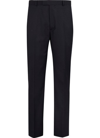 Austin Reed Contemporary Fit Black Plain Trousers REGULAR MENS 40