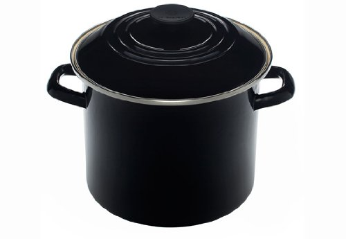 Le Creuset Enamel-on-Steel 8-Quart Covered Stockpot (Black Onyx)