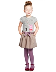 3 Piece Cotton Rich Peppa Pig Dress & Tights Outfit
