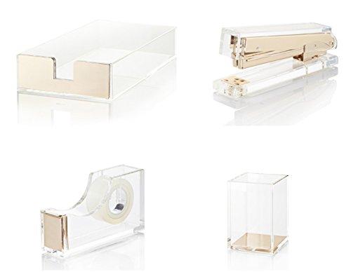 Gold Acrylic Tape Dispenser Lovely For Chic Desk