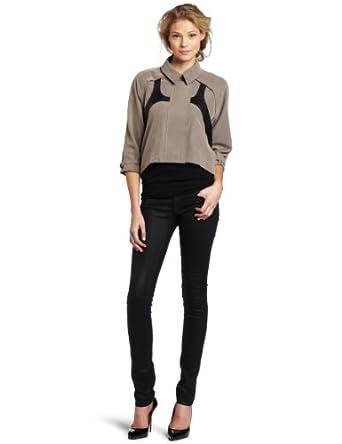Rebecca Minkoff Women's Joni Harness Jacket, Charcoal/Black, Small