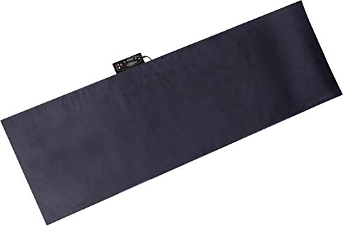 Relaxzen 60-290804 10-Motor Massage Mat with Heat and Removable Cover and Pillow, Gray