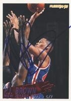 P.J. Brown New Jersey Nets 1994 Fleer Autographed Hand Signed Trading Card. by Hall+of+Fame+Memorabilia