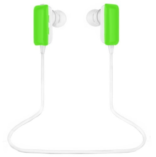 ECSEM® Mini Lightweight Wireless Stereo Sports/Running & Gym/Exercise Bluetooth Earbuds Headphones Headsets w/Microphone for Iphone 5S 5C 4S 4, Ipad 2 3 4 New iPad, Ipod, Android, Samsung Galaxy, Smart Phones Bluetooth Devices (Green) ECSEM Bluetooth Headsets autotags B00EE1WQX0