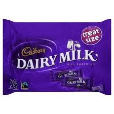 Cadbury Dairy Milk Treat Size Bars 252g