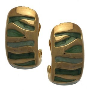 Lafayette Gold Green Clip On Earrings
