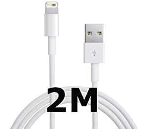 2M EXTRA LONG CABLE TO USB DATA SYNC CABLE 2 METRE METER CHARGER FOR IPHONE 5 SQUEEZEDTECH