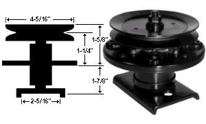 Replacement Spindle Assembly For Sears / AYP / Husqvarna # 106037X , 121622X , 121658X , 136818, 136819, 105483X Picture