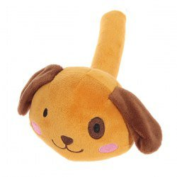 Brown Lovely Plush Hammer Round Dog Shape Figure Toy with Funny Children Laughter