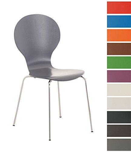CLP-Stapel-Stuhl-DIEGO-mit-Holzsitz-robust-pflegeleicht-ergonomisch-geformter-Sitzflche-bis-zu-12-Farben-whlbar-grau