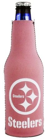 PITTSBURGH STEELERS PINK BOTTLE SUIT KOOZIE COOLER
