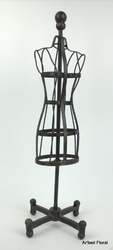 """22"""" Iron Standing Mannequin Dress Form ~ Body Form ~ Heavier Metal front-499396"""