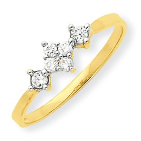 10K Yellow Gold Cubic Zirconia Promise Ring (8)