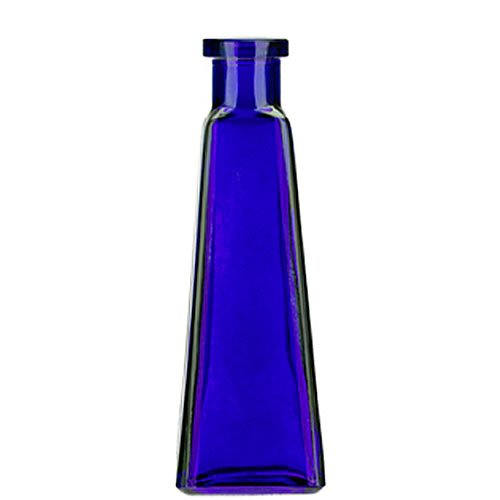 6oz Cobalt Blue Pyramid Recycled Glass Bottle