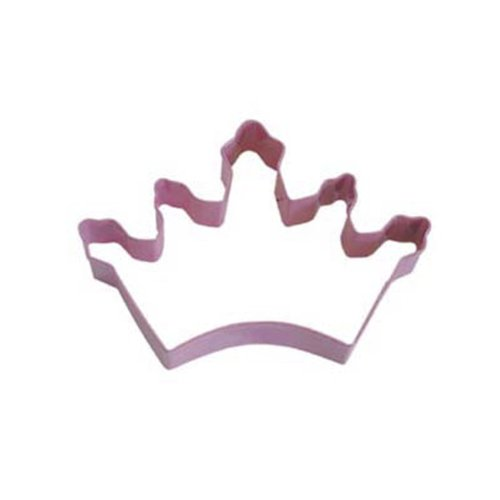 Dress My Cupcake DMC41CC106SET Crown Cookie Cutter, 5-Inch, Pink, Set of 12