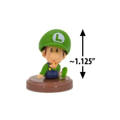 Nintendo Super Mario Bros Series 3 1.6 inch Baby Luigi - Choco Egg - Japanese Import Mini Figure - 1