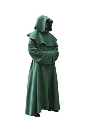 .com: Green Monk Robe. Mage, Wizard, Priest, Cleric, or Druid Robe